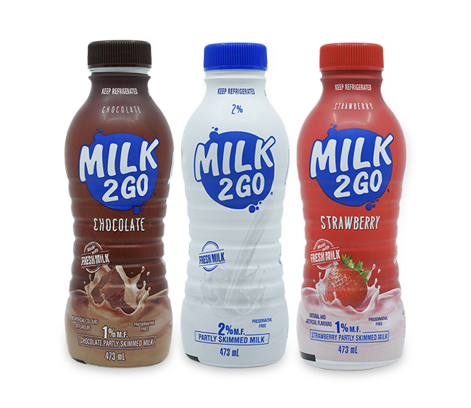 Milk2Go in Shrink Sleeves