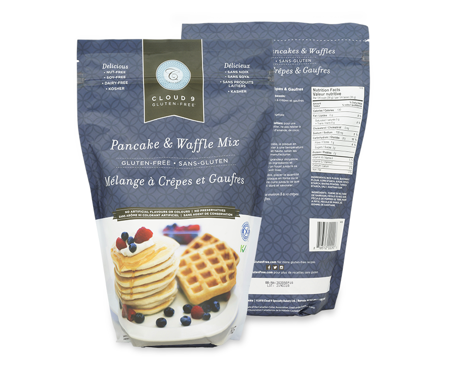 Pancake mix in pouch